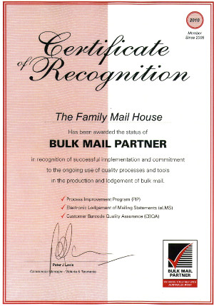 bulk mail partner family mail house